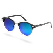 Zwarte & Blauwe Zonnebril met Gepolariseerde Glazen