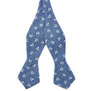 Blue Anchor Self Tie Bow Tie