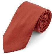 Corbata básica color teja 8 cm