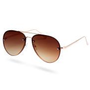 Kulta & ruskea Aviator-aurinkolasit