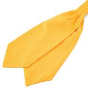 Kanárkově žlutá kravatová šála Askot Basic