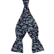 Blå Blomsterdesign Bomulds Selvbinder Butterfly