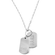 Dog Tag Barcode Halsketting