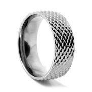 Snakeskin Titanium Ring