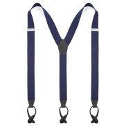 Bretelle blu con fermaglio doppio per bottoni XL