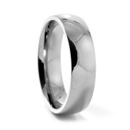 Traditional Silver Titanium Ring