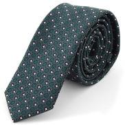 Grüne Krawatte mit stylischem Muster
