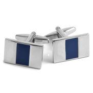 Stylische Manschettenknöpfe mit blauer Mitte