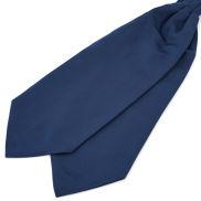 Semplice cravatta ascot blu navy
