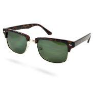 Зелено-златисти класически ретро слънчеви очила