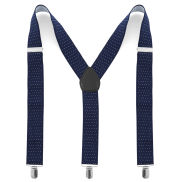 Navy Blue Dotted Suspenders