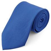 Blaue Basic Krawatte 8 cm