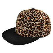 Leopard/Svart Snapback Cap