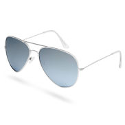 Aviator Silver Mirrored Polarized Sunglasses