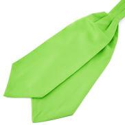 Semplice cravatta ascot verde lime
