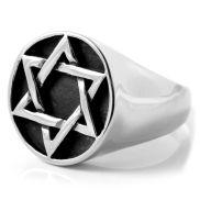 Ατσάλινο Δαχτυλίδι με Εξάγωνο Σύμβολο
