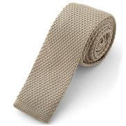 Mocha Knitted Tie