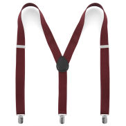 Plain Burgundy Slim Suspenders