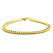 Gold Coloured XV Snake Steel Bracelet