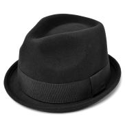 Black Trilby Wool Hat
