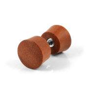 Brown Sawo Wood Stud Earring