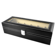 Leatherette Watch Case - 6 Watches