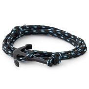 Zwarte Ankerarmband