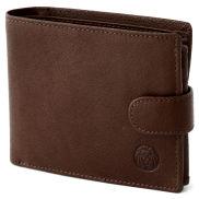 Brown Ergonomic California Leather Wallet
