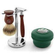 Set afeitado elegante en palisandro