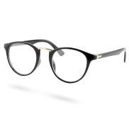 Schwarze Transparente Cat-Eye-Brille