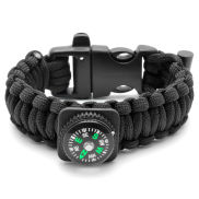 Schwarzes Kompass Paracord Armband