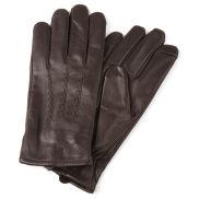 Brązowe skórzane rękawiczki
