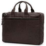 Hnedá kožená taška na notebook Montreal XL