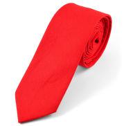 Sytě červená bavlněná kravata