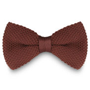 Chocolate Knitted Bow Tie