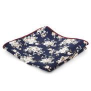 Blå & Vit-Blommig Bröstnäsduk