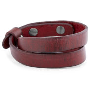 Red Jackson Leather Bracelet