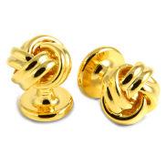 Botões de Punho Retorcidos Dourados