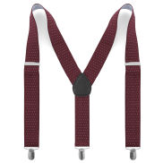 Burgundy Dotted Suspenders