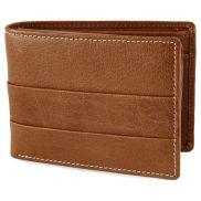 Bledohnedá peňaženka z pravej kože s vráskami Oxford
