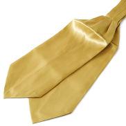 Semplice cravatta ascot color oro brillante