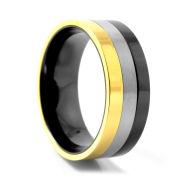 Driekleurige Titanium Ring