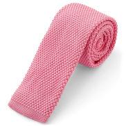 Cravatta rosa intenso lavorata a maglia