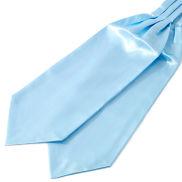 Semplice cravatta ascot azzurro brillante