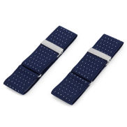 Navy Blue Dotted Sleeve Holders
