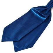 Glänzender Marineblauer Basic Krawattenschal