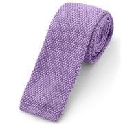 Fioletowy krawat z dzianiny