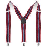 Bretelles à rayures bleu blanc rouge