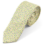 Corbata forestal de algodón crema