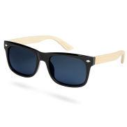 Bambusowe przydymione okulary przeciwsłoneczne